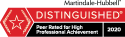 Frank Cristiano Martindale Hubbell Distinguished Peer Rating Badge